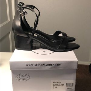 Steve Madden Irene Black Leather - 7.5